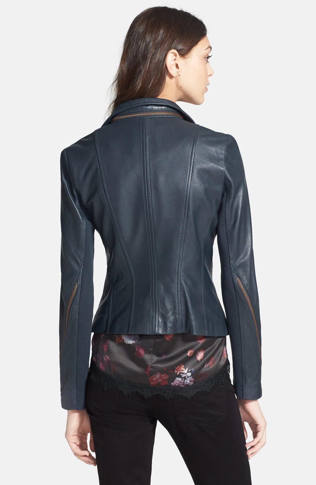 Alternate Image 3  - Sam Edelman Zip Detail Moto Jacket