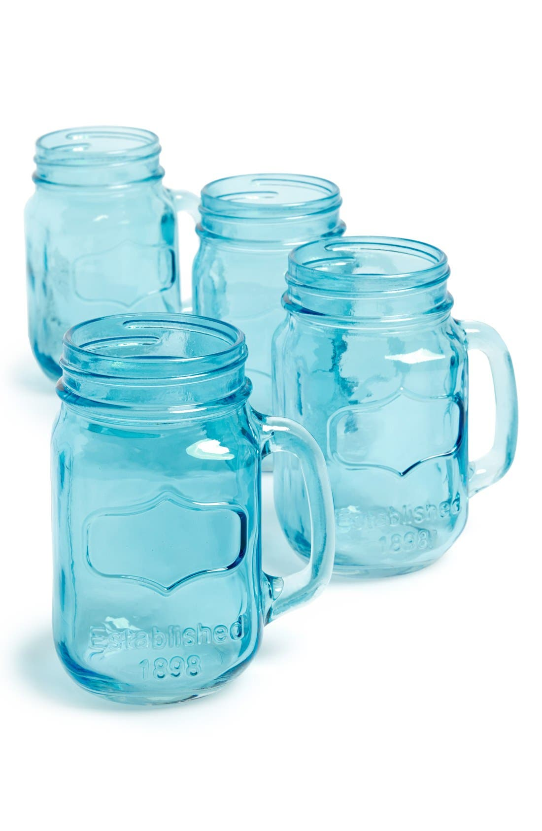 Main Image - Circle Glass 'Yorkshire' Mason Jar Mugs (Set of 4)