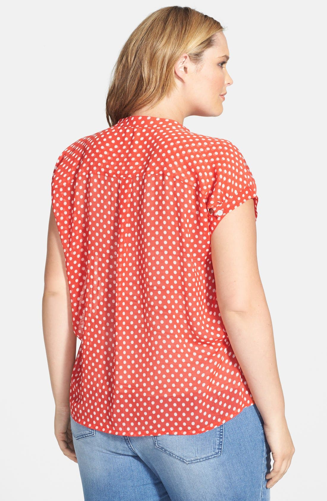 Alternate Image 2  - Two by Vince Camuto 'Star Dot' Blouse (Plus Size)