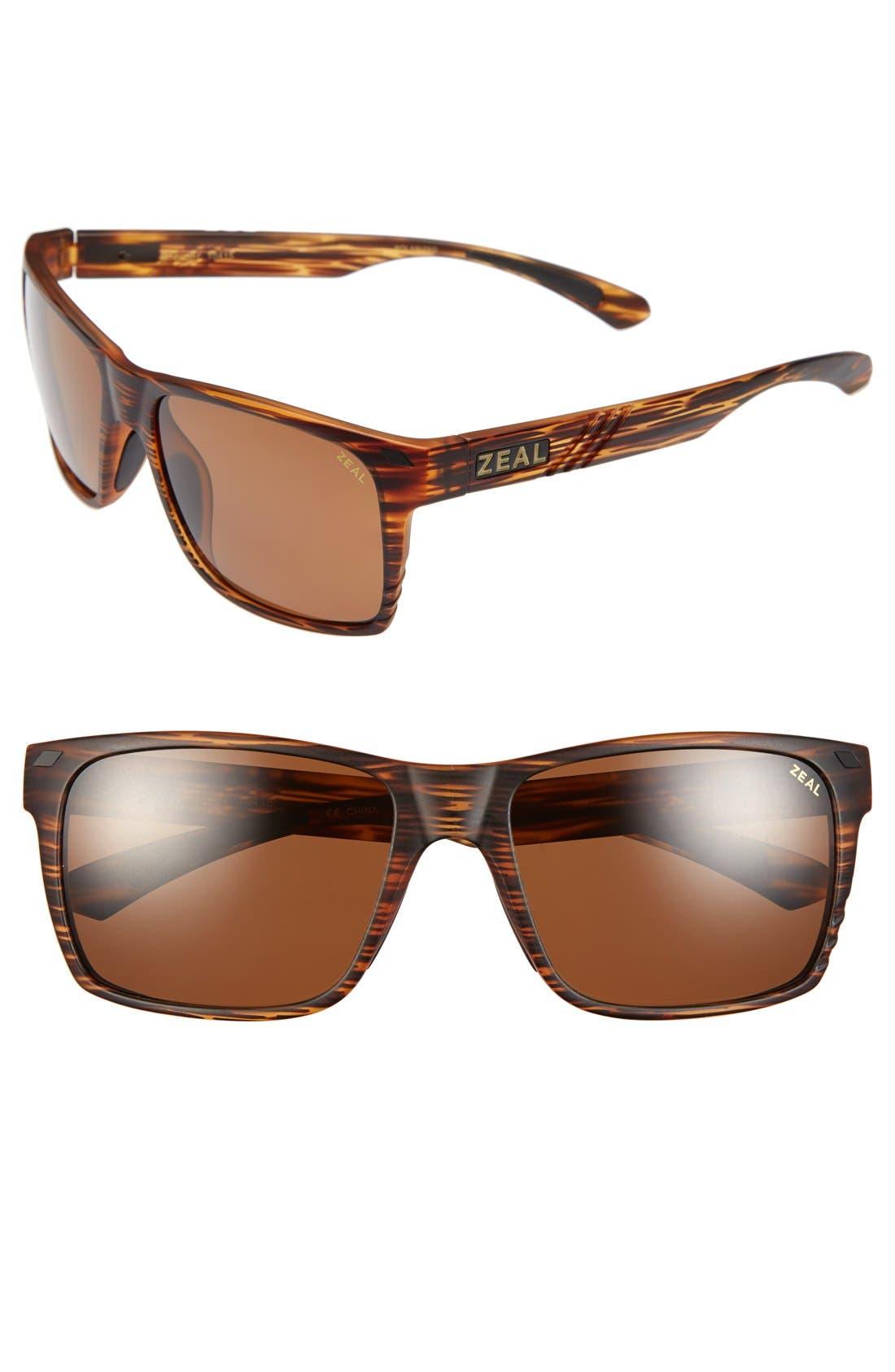 Alternate Image 1 Selected - Zeal Optics 'Brewer' 57mm Polarized Plant Based Sunglasses