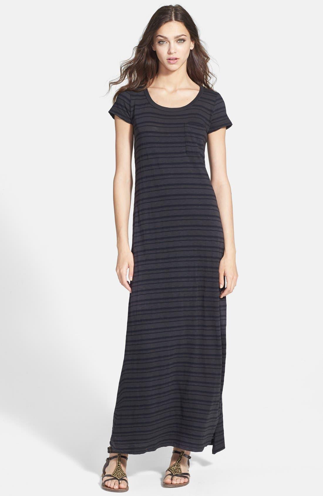 Main Image - Splendid Stripe T-Shirt Maxi Dress