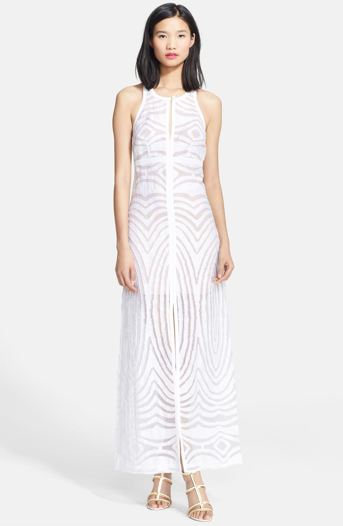 Alternate Image 1 Selected - Tracy Reese Linen Blend Burnout Maxi Dress