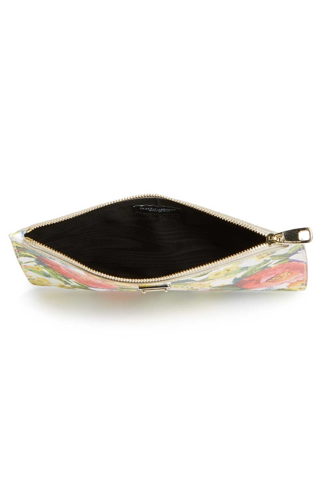 Alternate Image 3  - Dolce&Gabbana Floral Print Pouch