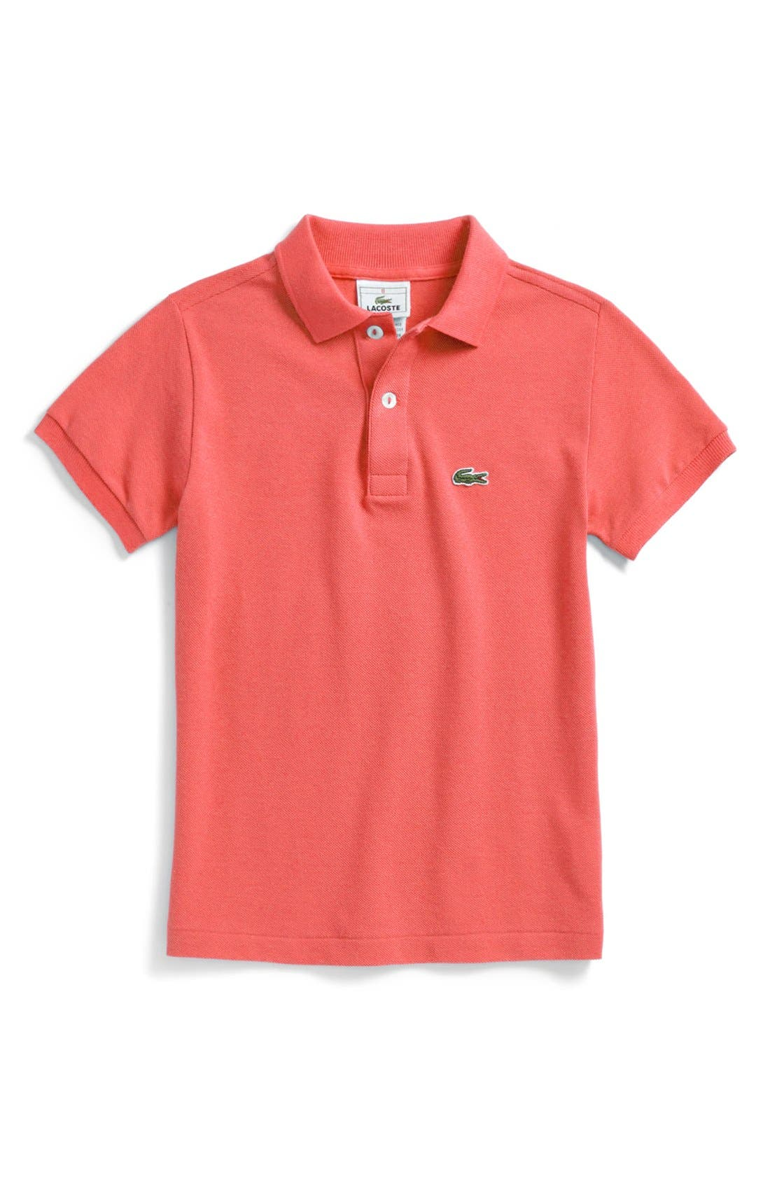 Alternate Image 1 Selected - Lacoste Short Sleeve Polo (Toddler)