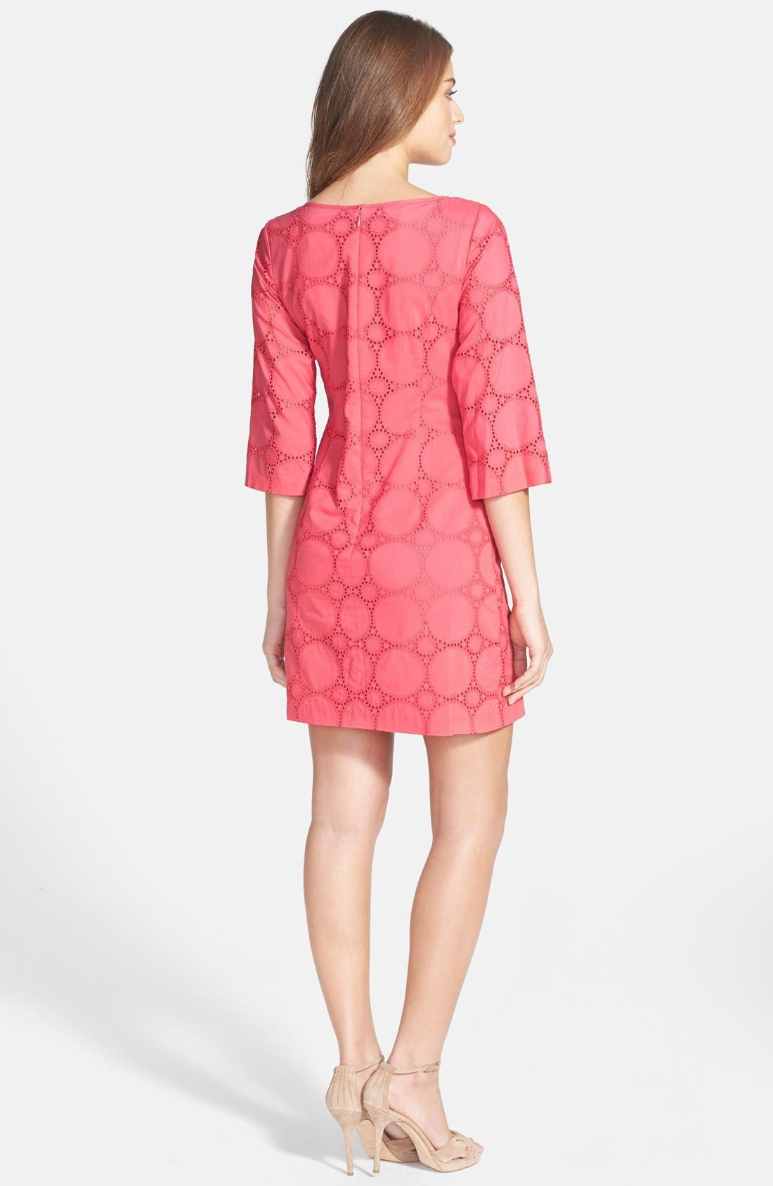 Alternate Image 2  - Eliza J Cotton Lace Tunic Dress (Petite)