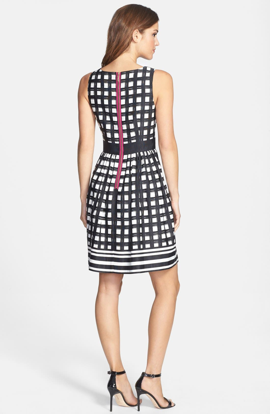Alternate Image 2  - Eliza J Print Faille Fit & Flare Dress