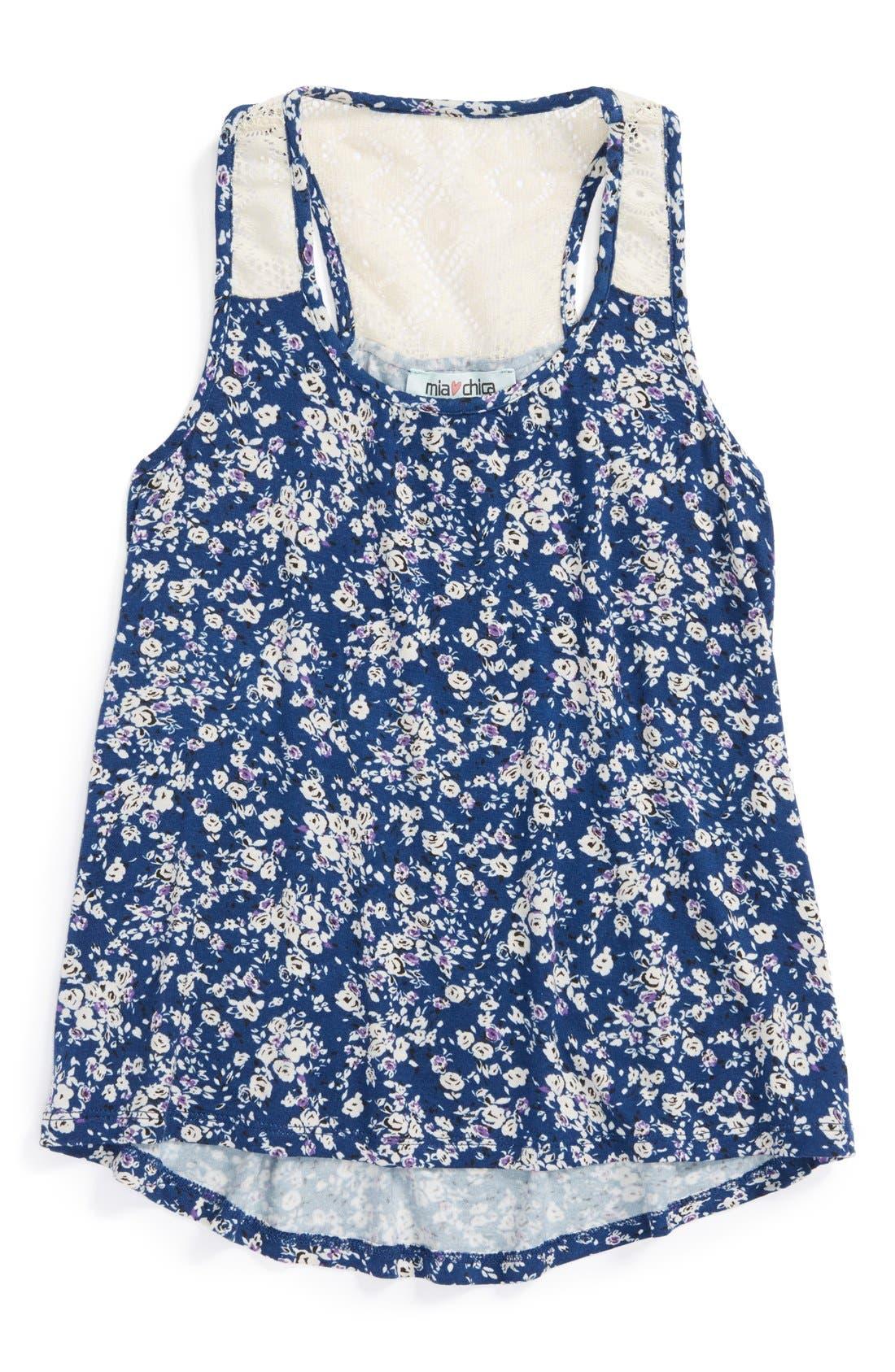 Alternate Image 1 Selected - Mia Chica Crochet Tank (Big Girls)