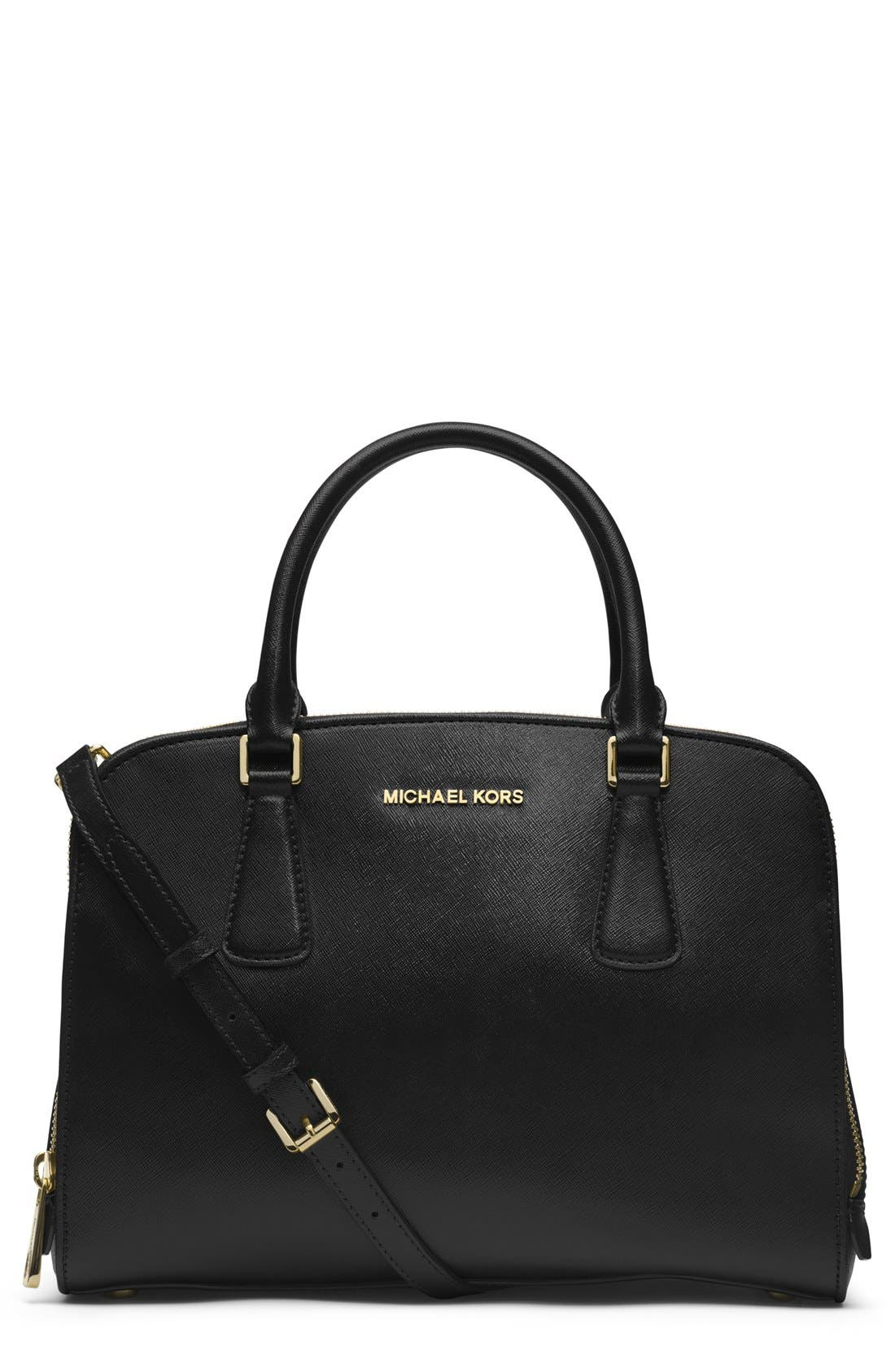 Main Image - MICHAEL Michael Kors 'Large Reese' Saffiano Leather Satchel