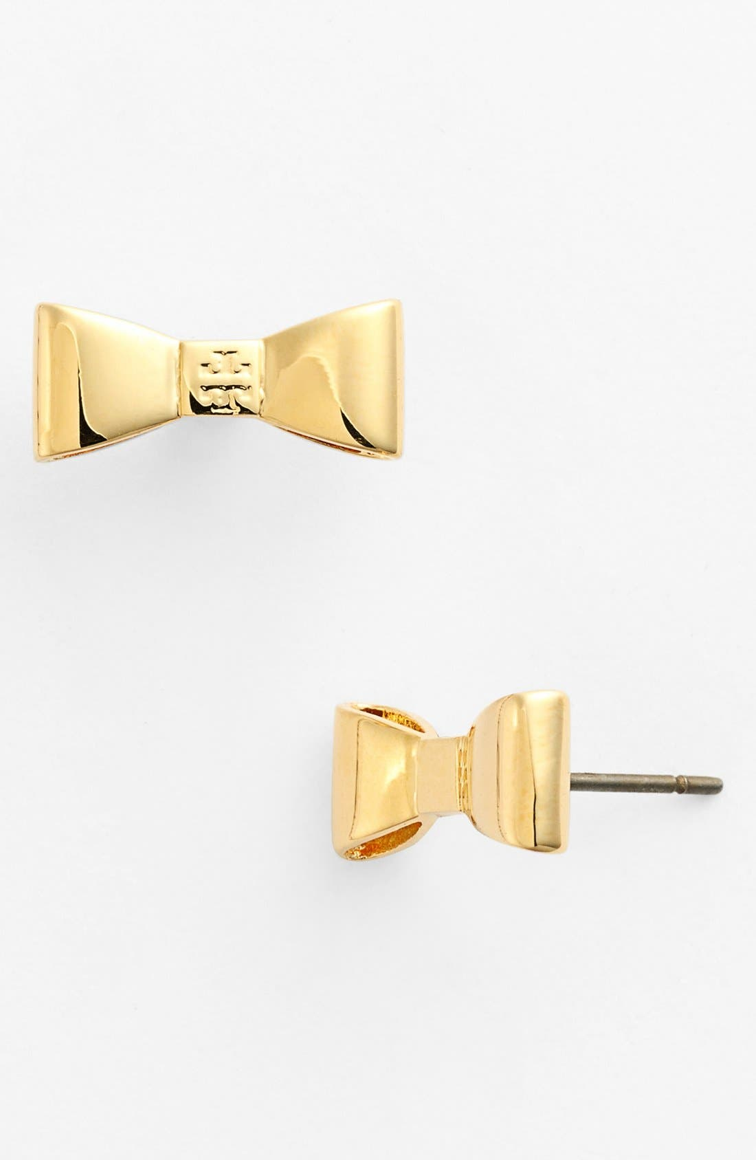Alternate Image 1 Selected - Tory Burch Bow Stud Earrings