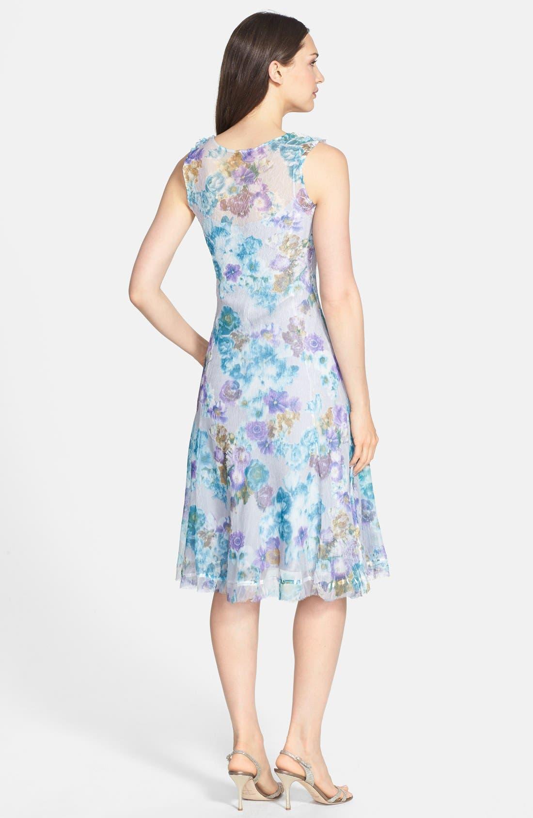 Alternate Image 2  - Komarov Print Ruffled Chiffon Dress