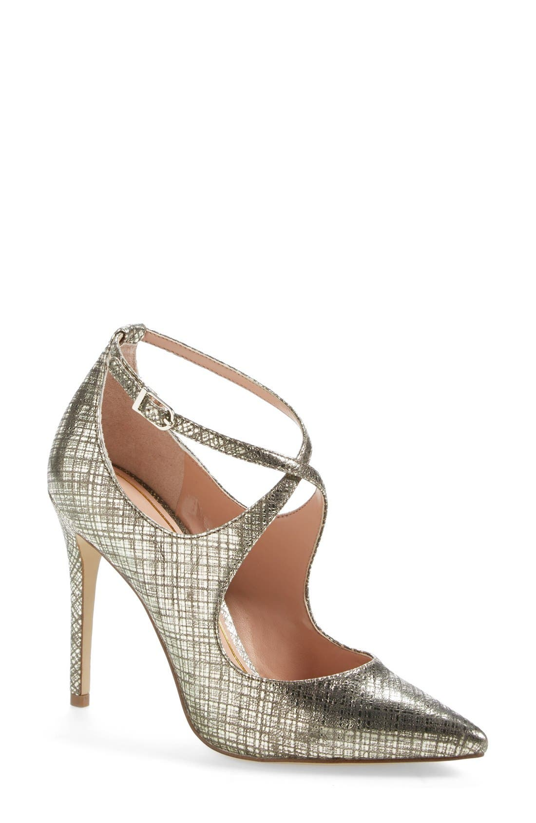 Alternate Image 1 Selected - Enzo Angiolini 'Finton' Leather Pointy Toe Pump (Women)