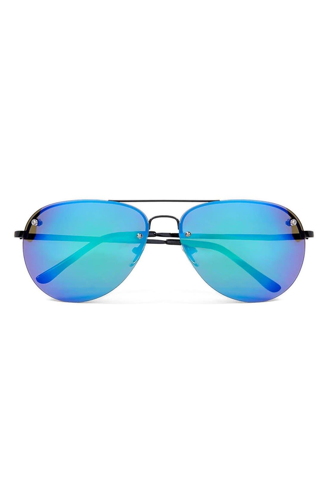 Main Image - Topman 58mm Frameless Aviator Sunglasses