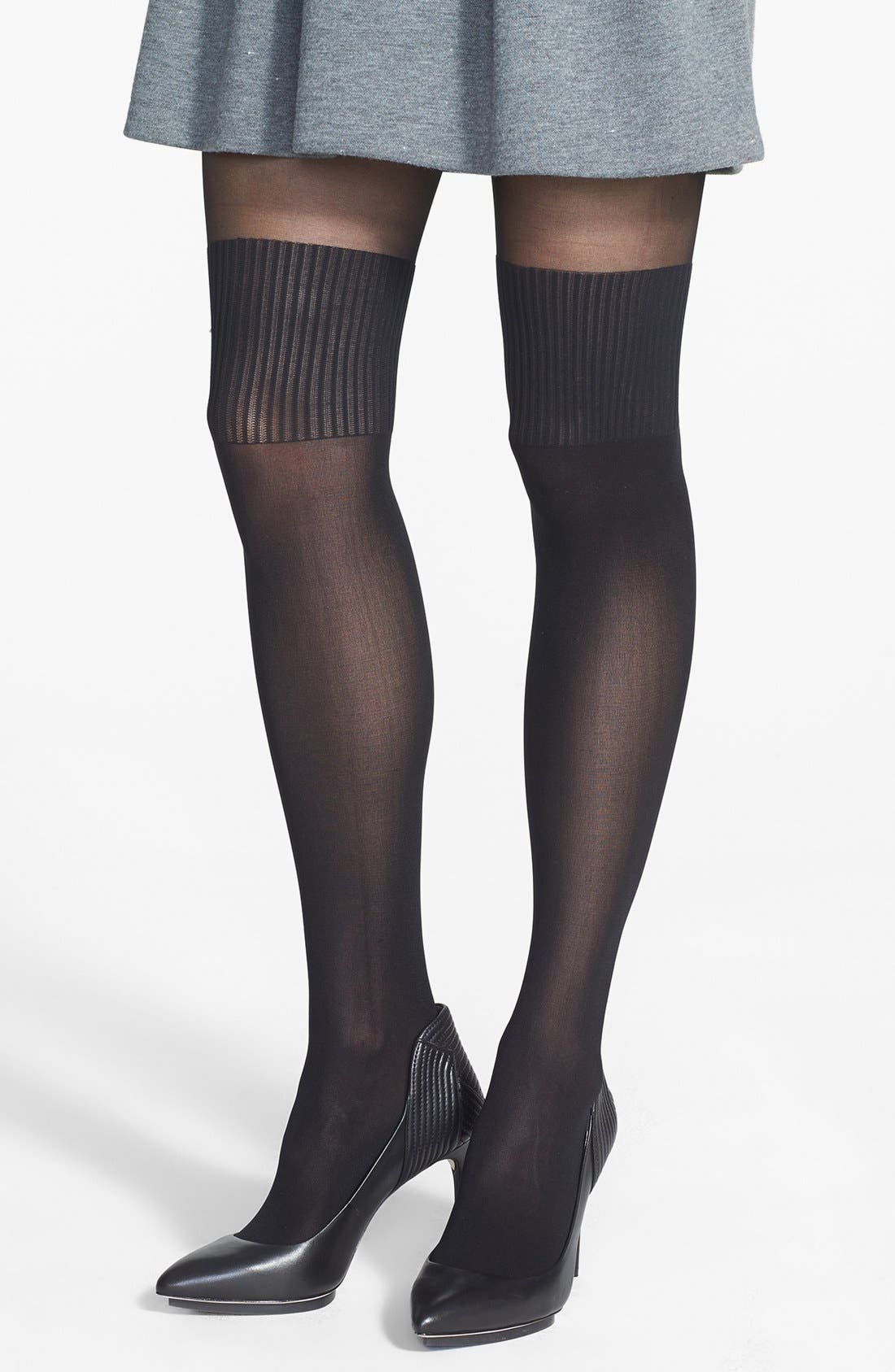 Alternate Image 1 Selected - Nordstrom Mock Over the Knee Tights