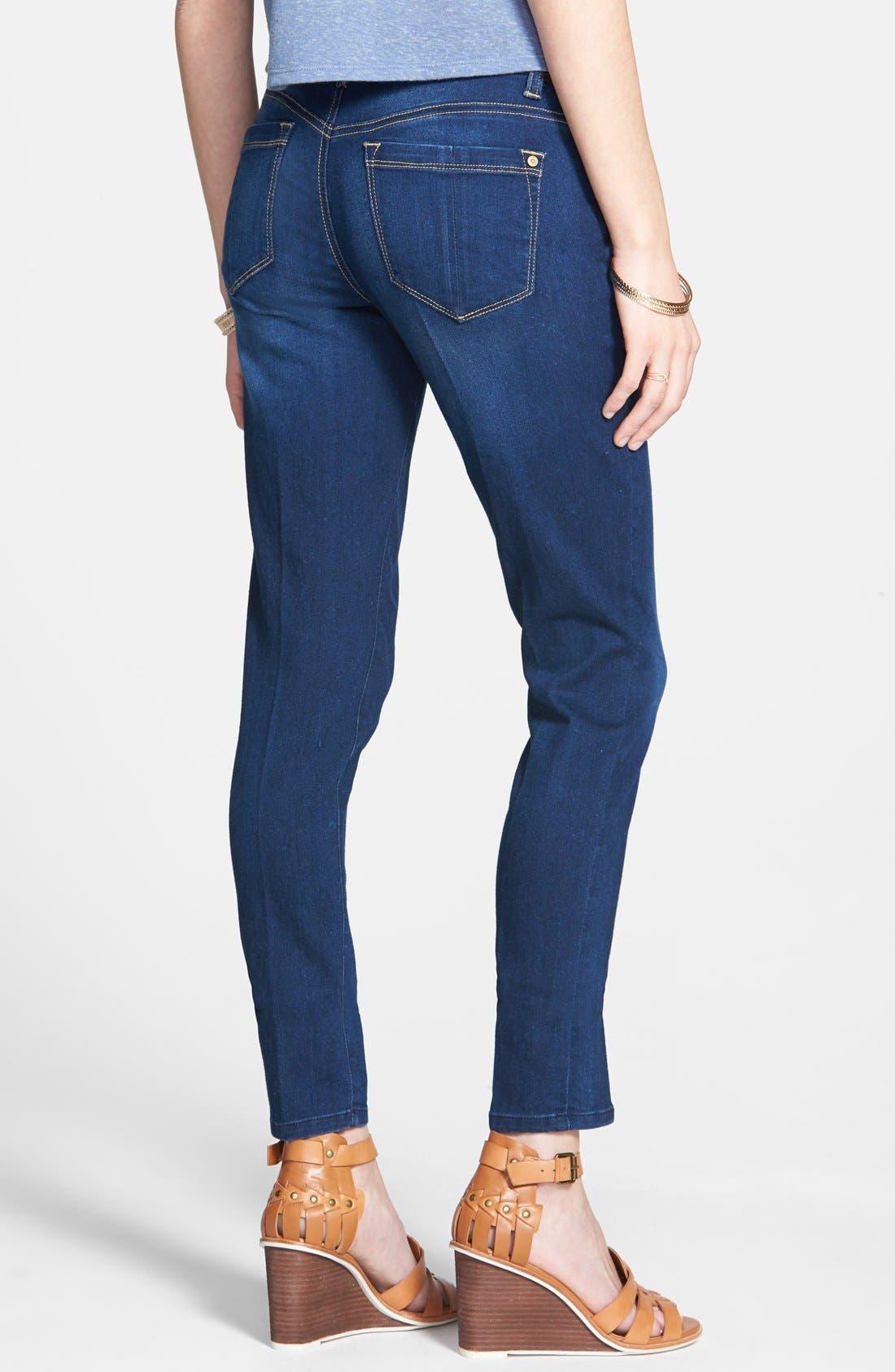 Alternate Image 2  - Jolt Mid-Rise Skinny Jeans (Dark)