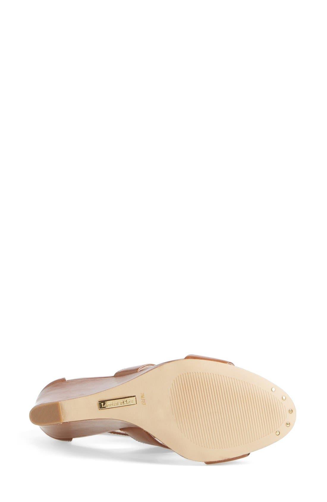 Alternate Image 4  - Louise et Cie 'Rozza' Leather Wedge Sandal (Women)