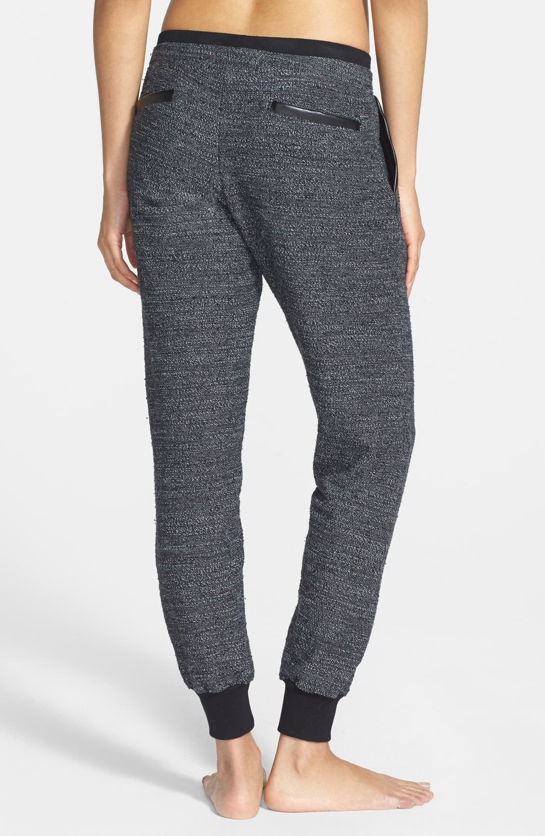 Alternate Image 2  - Solow Faux Leather Trim Slouchy Pants (Online Only)