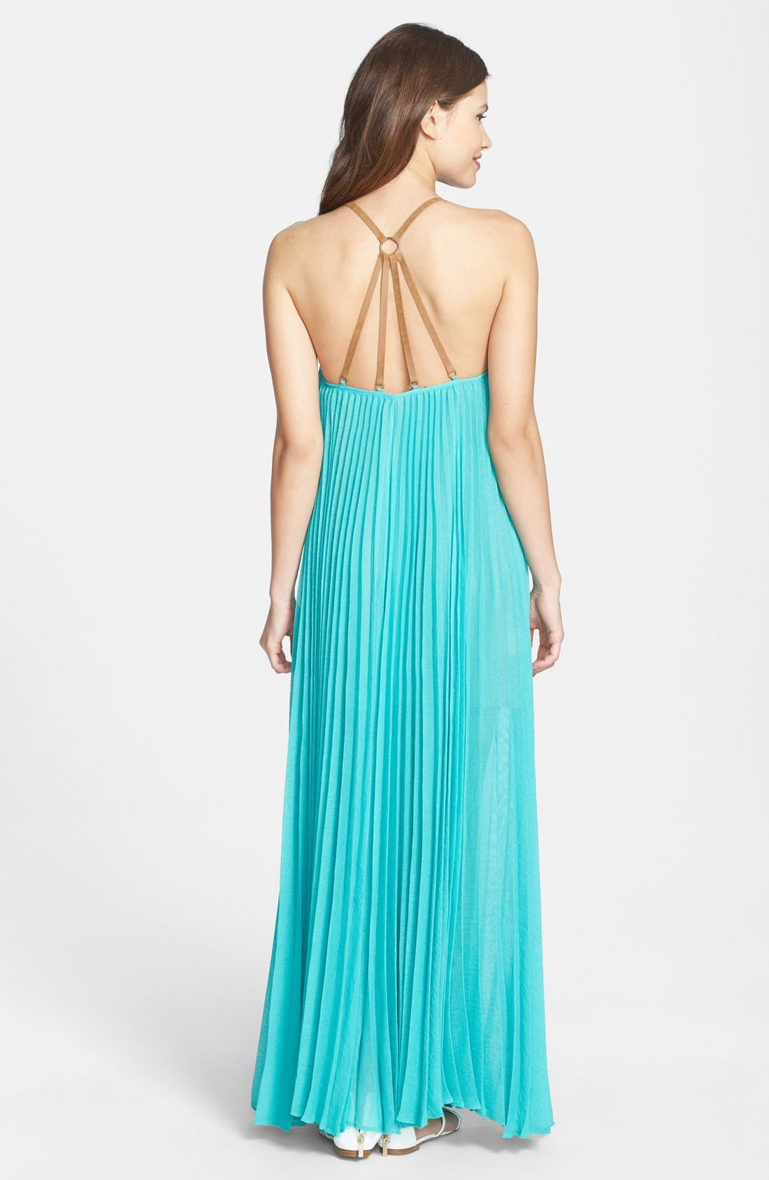 Alternate Image 2  - BCBGMAXAZRIA 'Brynna' T-Strap Back Maxi Dress