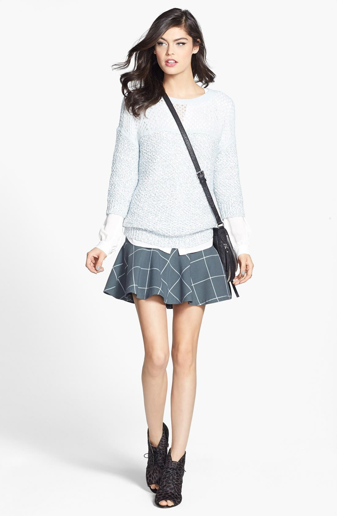 Alternate Image 4  - 1.STATE Windowpane Plaid Skirt (Nordstrom Exclusive)
