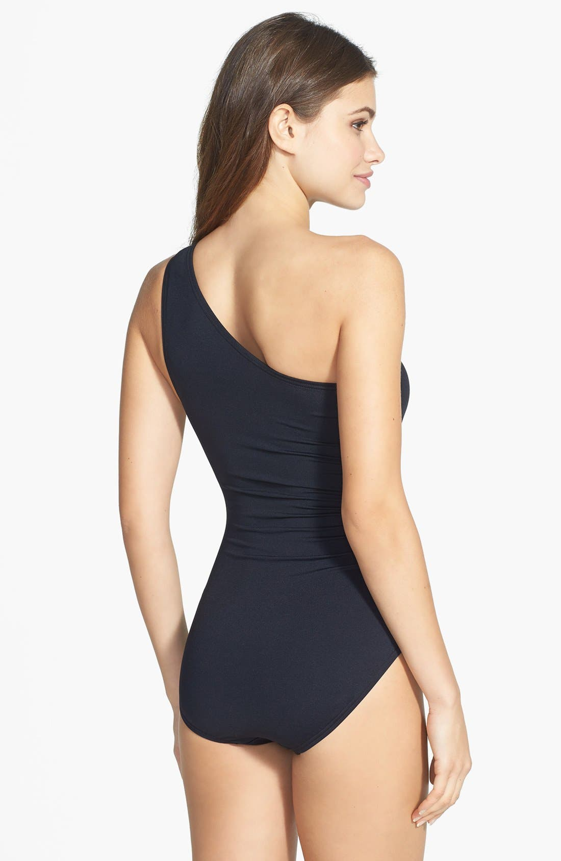 Alternate Image 2  - MICHAEL Michael Kors One-Shoulder Maillot