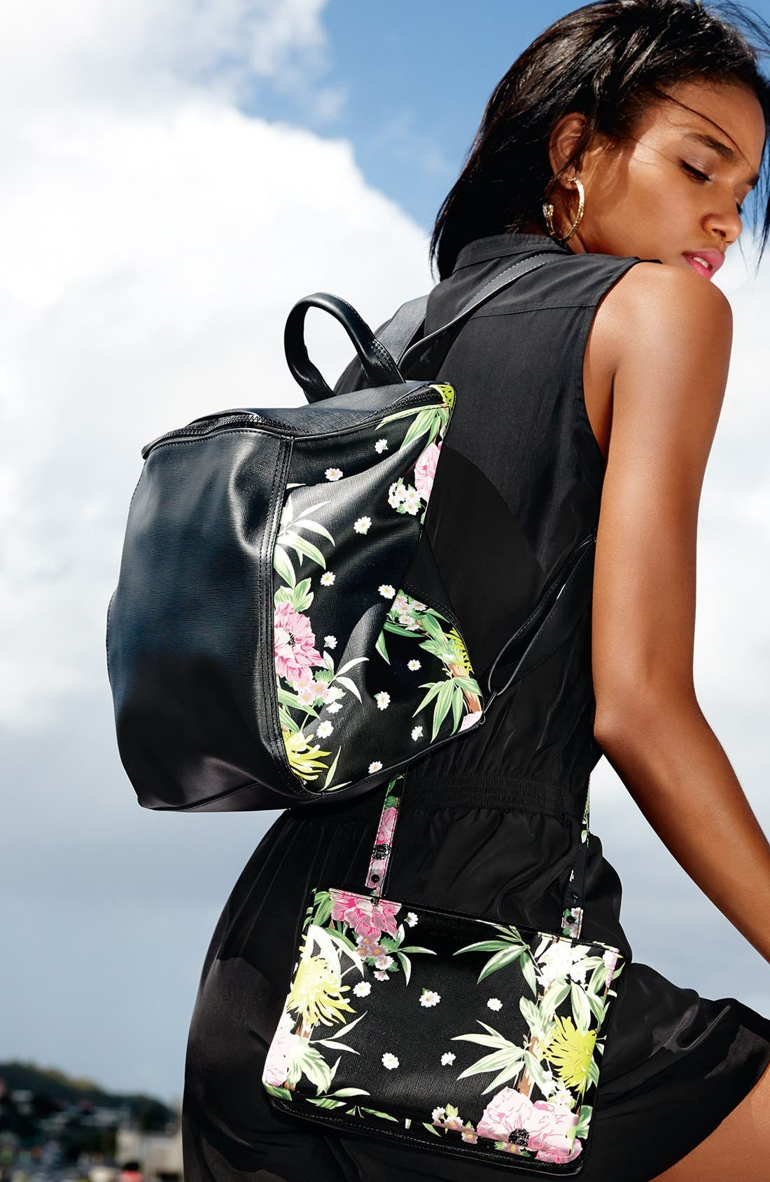 Alternate Image 5  - French Connection 'Prim Lady' Faux Leather Backpack
