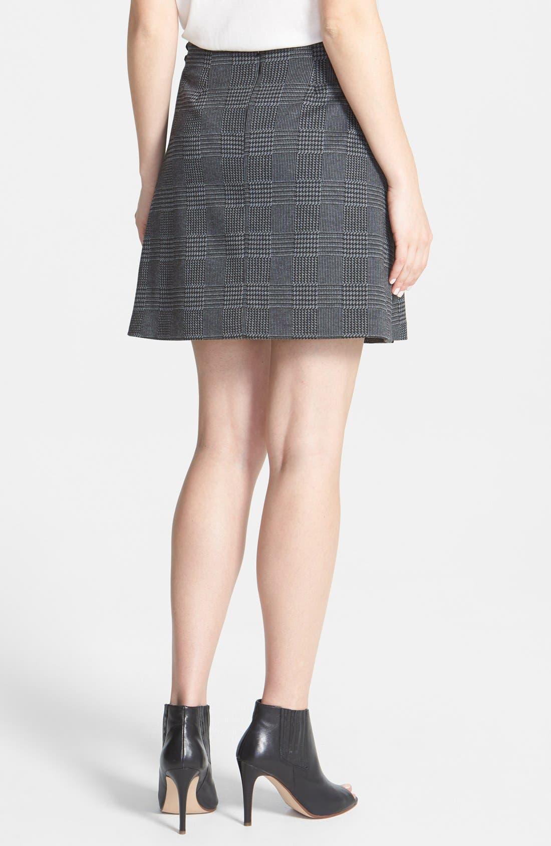 Alternate Image 2  - Vince Camuto Glen Plaid Faux Wrap Miniskirt