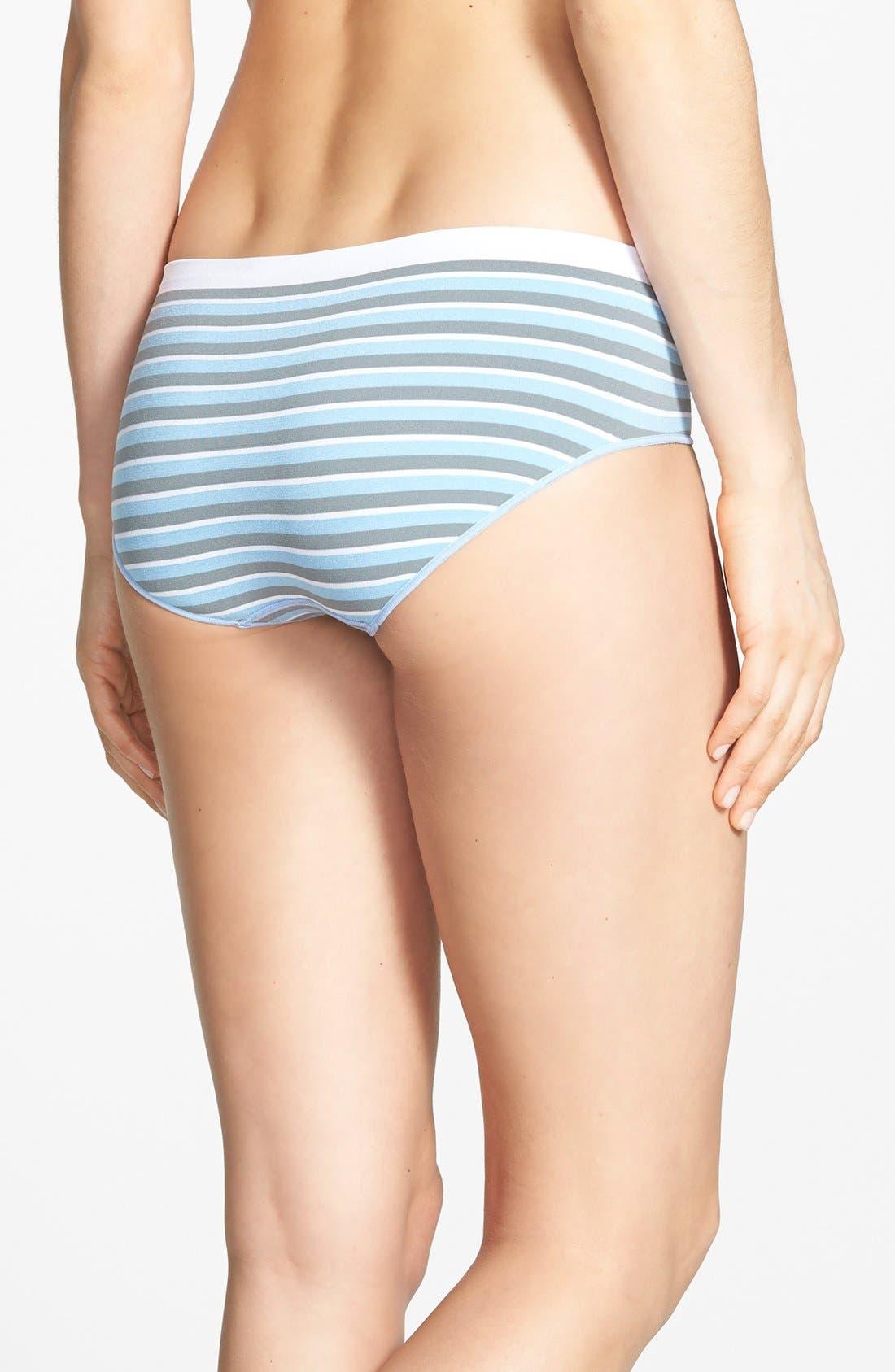 Alternate Image 2  - Shimera Seamless Stripe Hipster Briefs