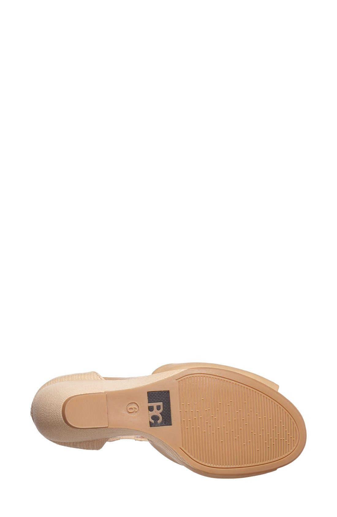 Alternate Image 4  - BC Footwear 'Deep Down' Wedge Sandal (Women)