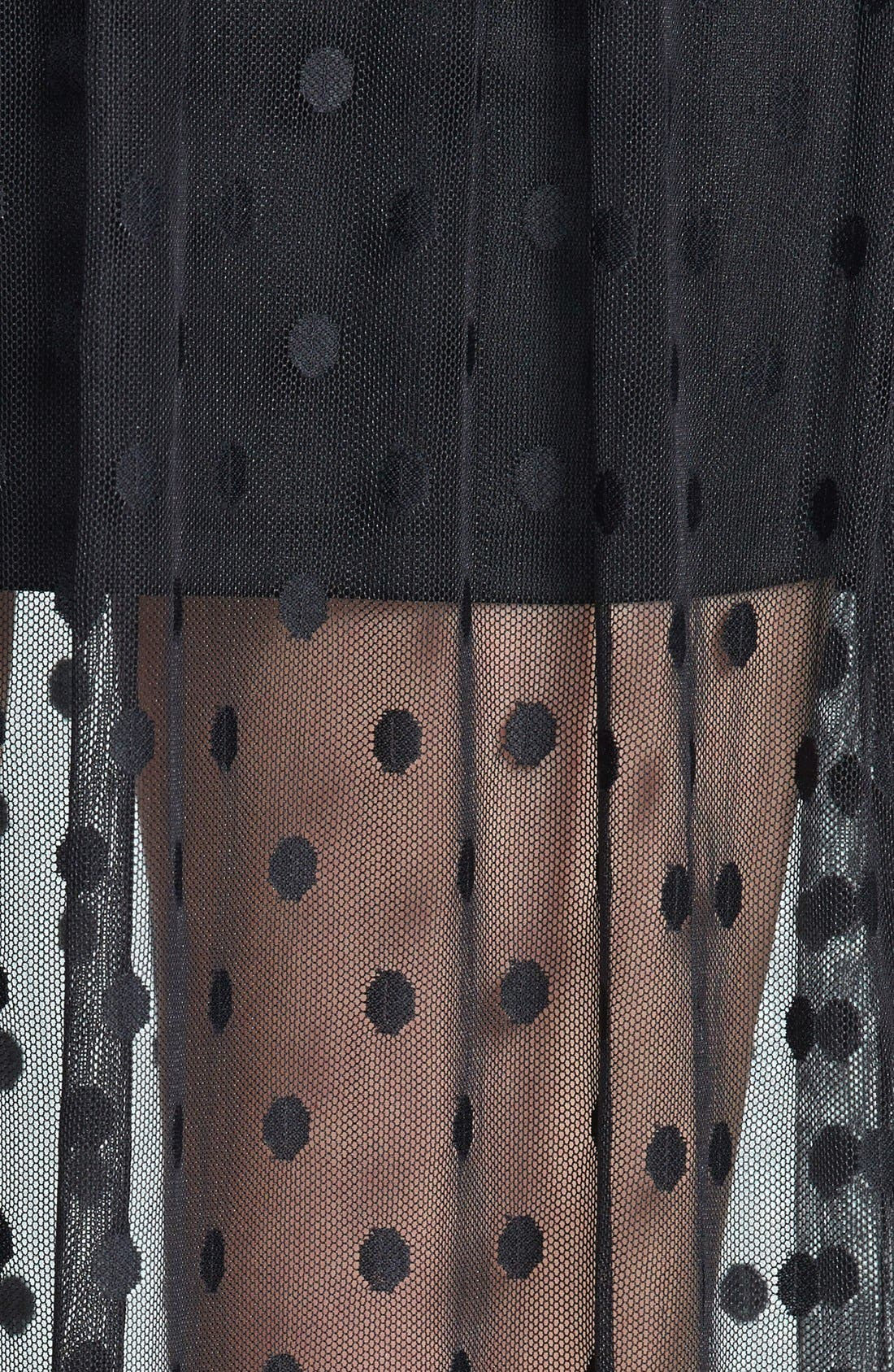 Alternate Image 3  - ASTR Polka Dot Sheer Maxi Skirt (Nordstrom Exclusive)