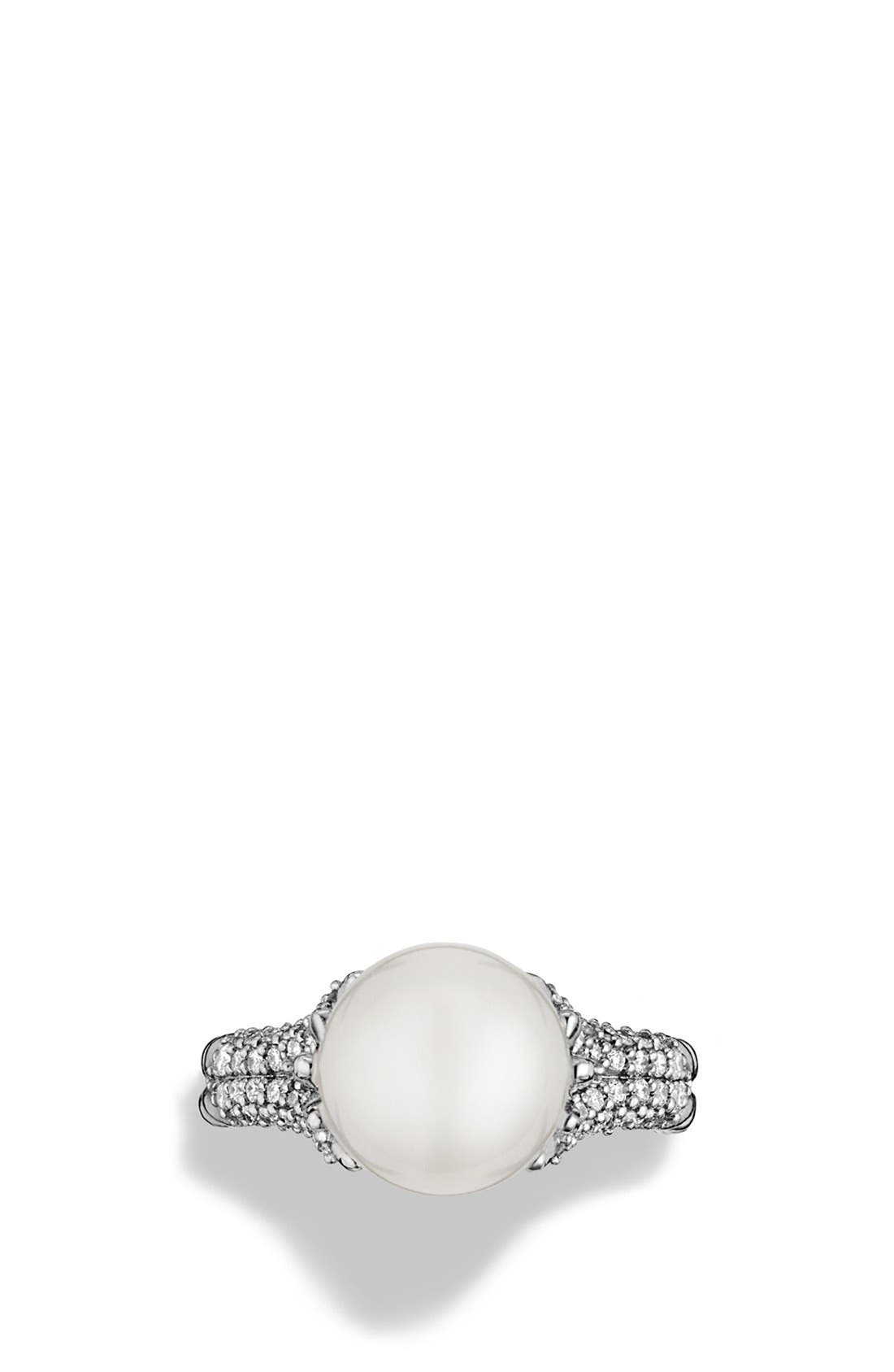 Alternate Image 3  - David Yurman 'Starburst' Pearl Ring with Diamonds