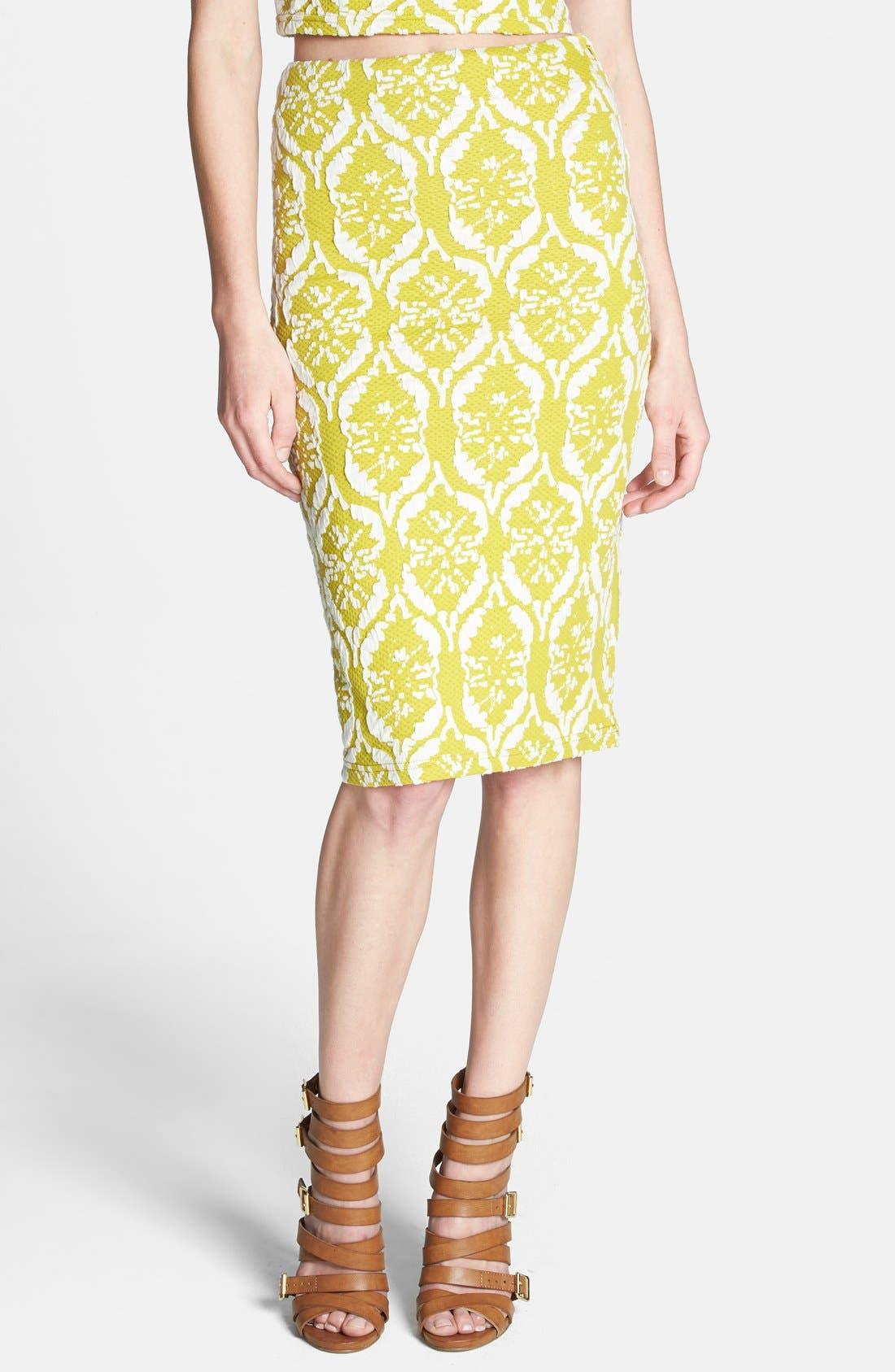 Main Image - Lucy Paris Textured Tube Skirt