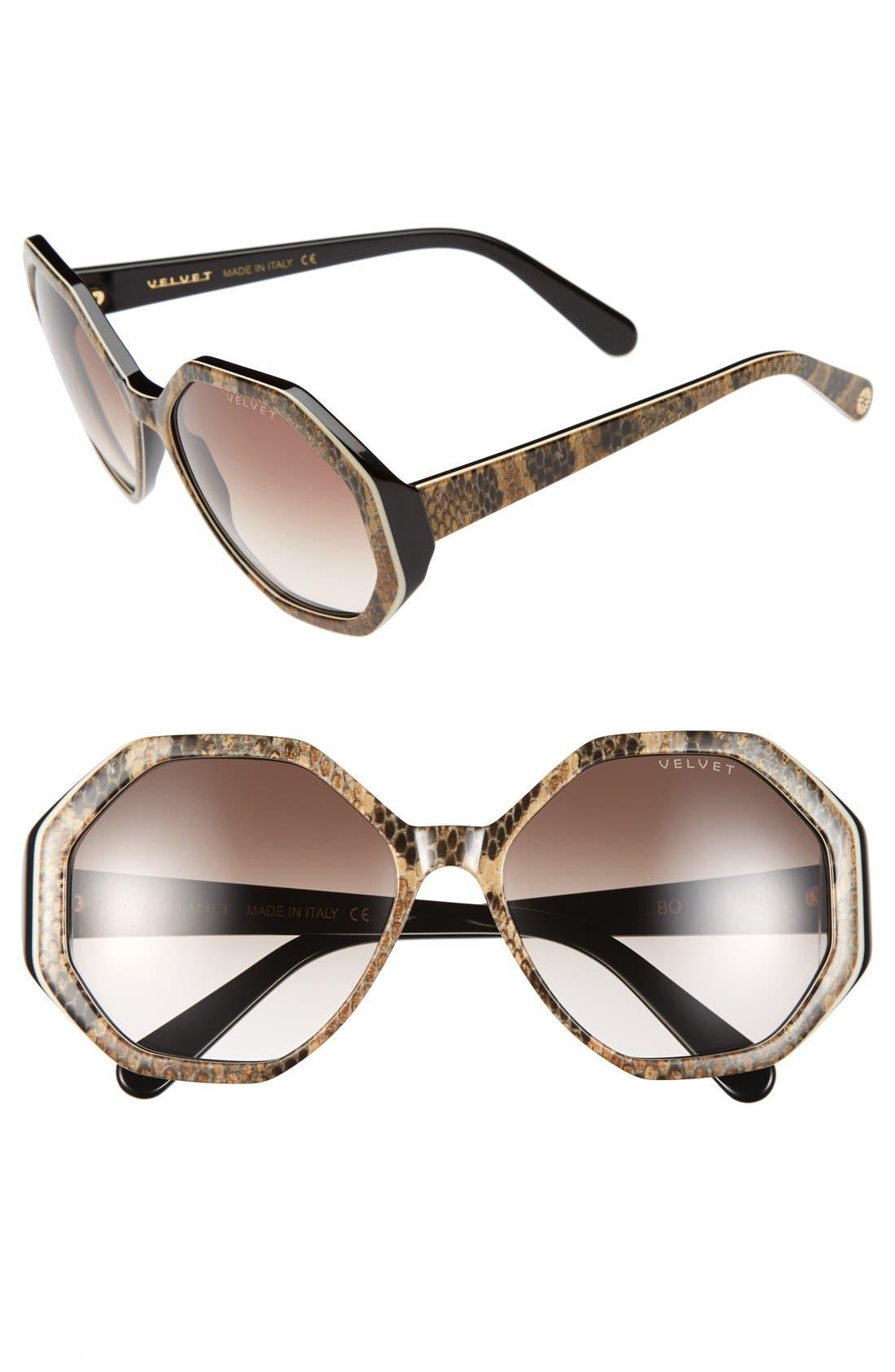 Alternate Image 1 Selected - Velvet Eyewear 'Jami' 56mm Sunglasses