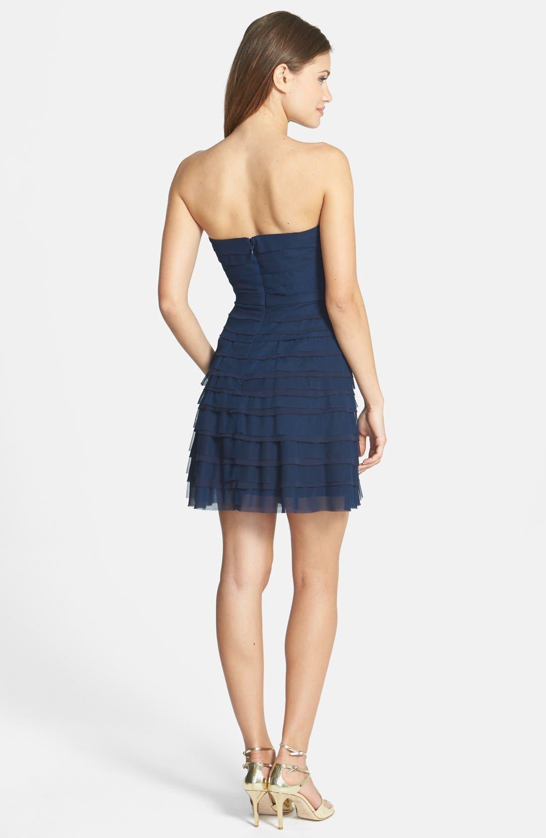 Alternate Image 2  - BCBGMAXAZRIA 'Cocco' Tiered Chiffon Dress