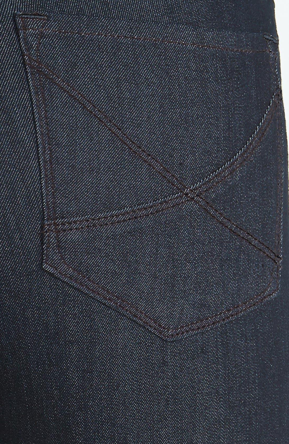 Alternate Image 3  - NYDJ 'Ami' Contrast Stitch Stretch Skinny Jeans (Dark Enzyme)