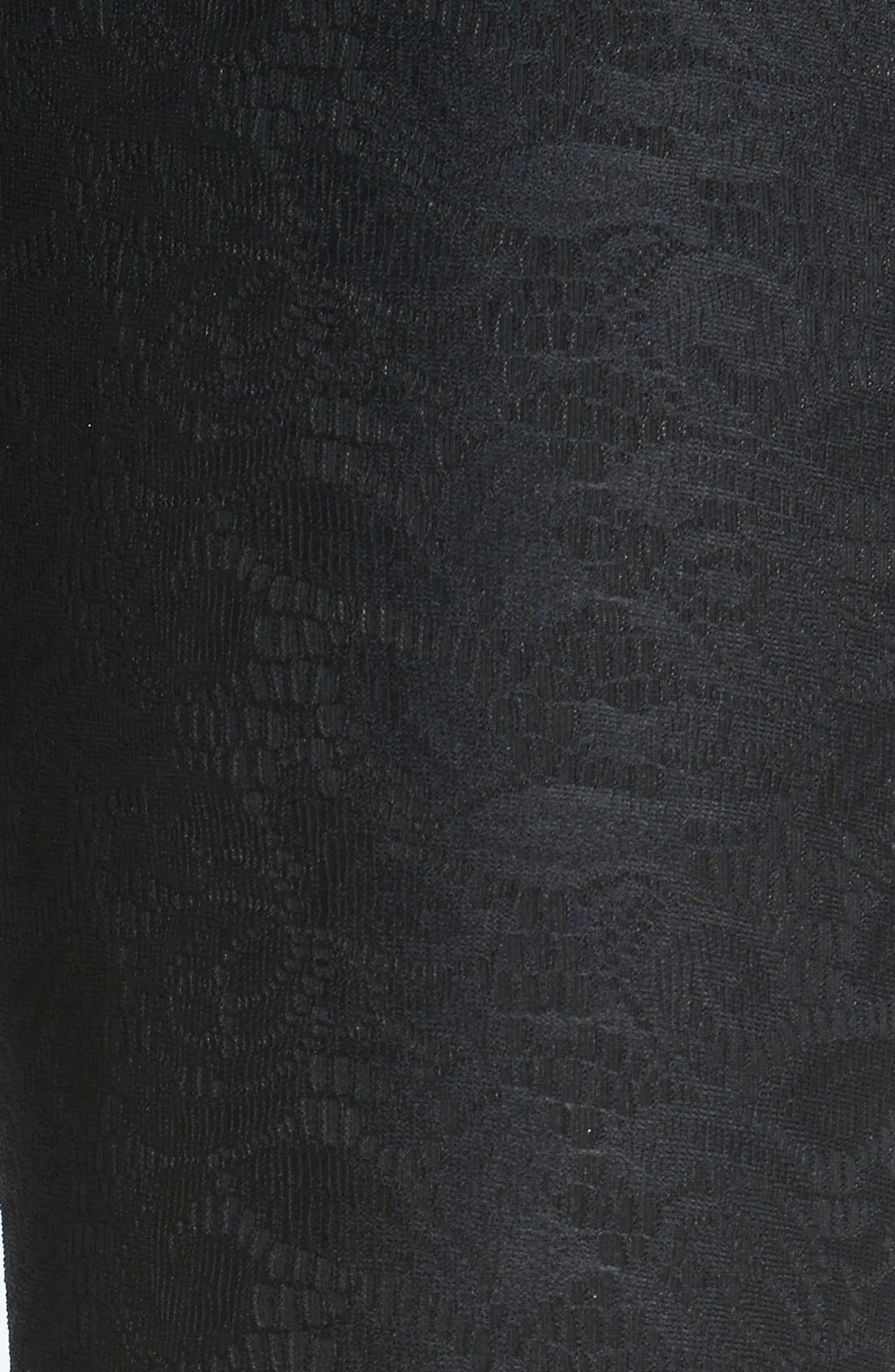 Alternate Image 2  - Lyssé Lace Control Top Crop Leggings