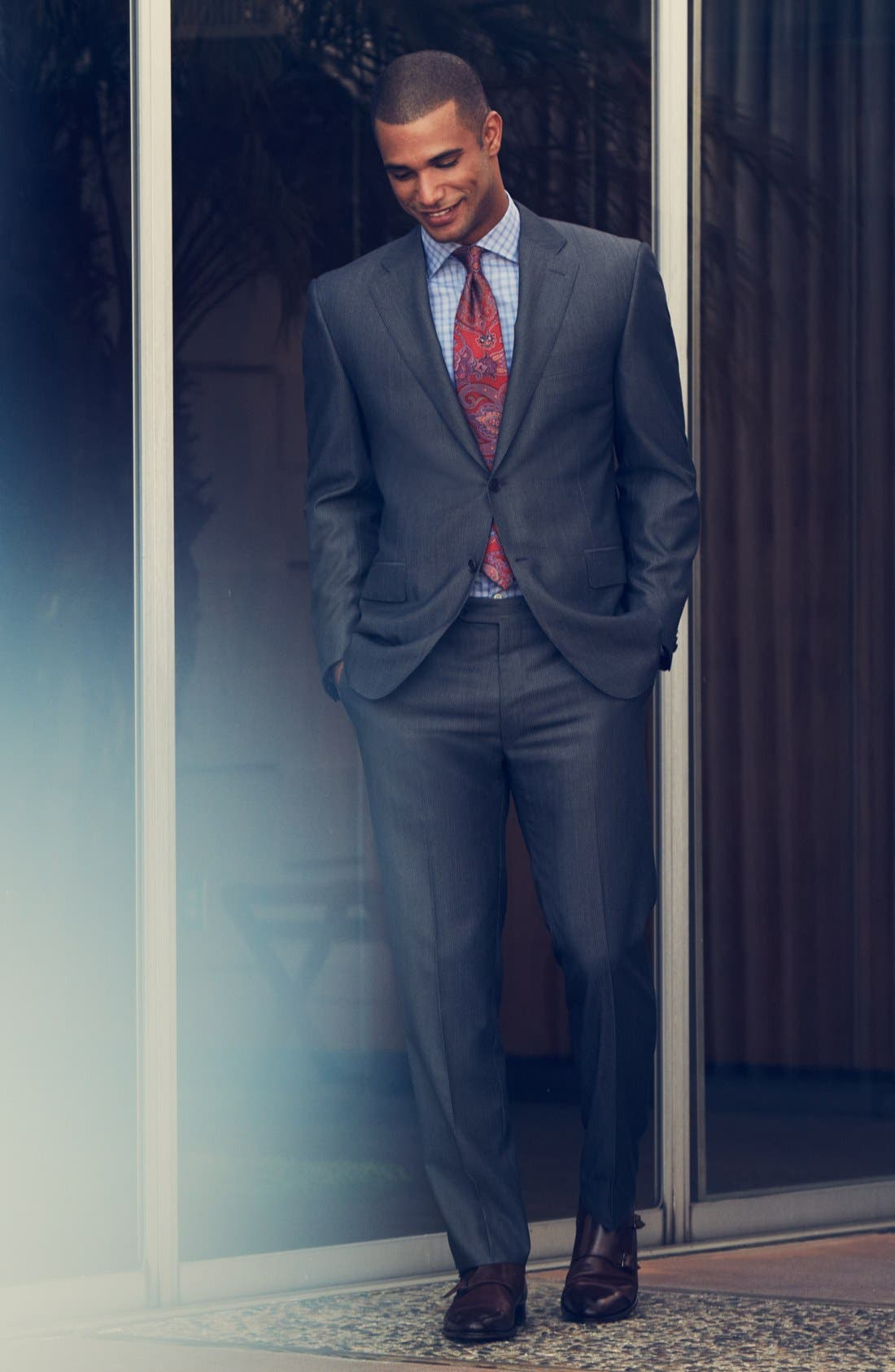 Alternate Image 6  - Canali Classic Fit Herringbone Suit