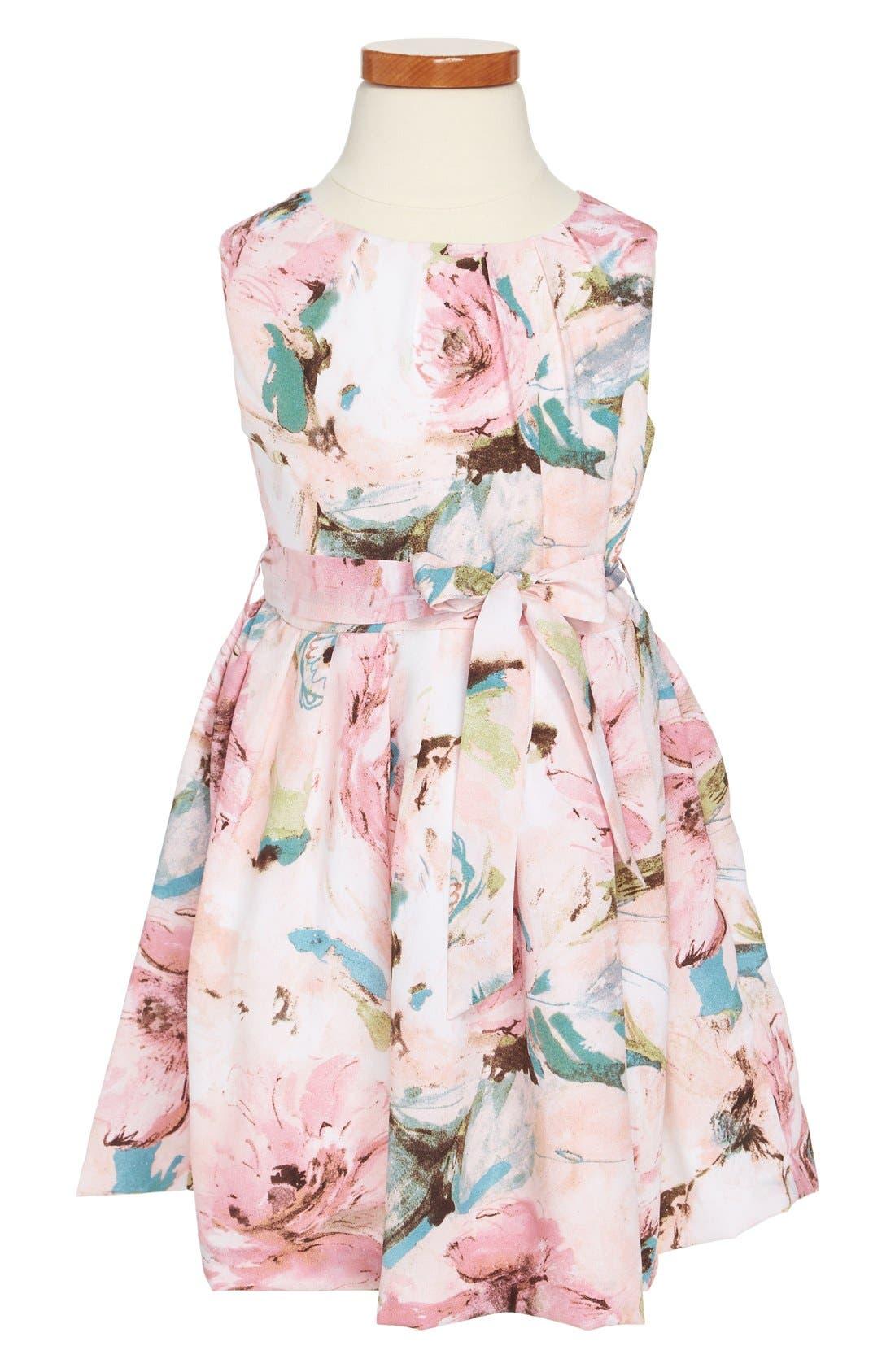 Alternate Image 1 Selected - Pippa & Julie Floral Print Dress (Little Girls & Big Girls)