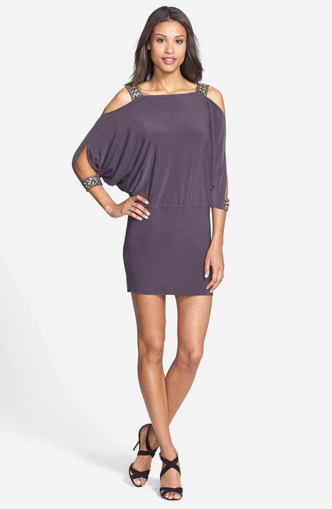Alternate Image 3  - Betsy & Adam Embellished Cold Shoulder Jersey Dress