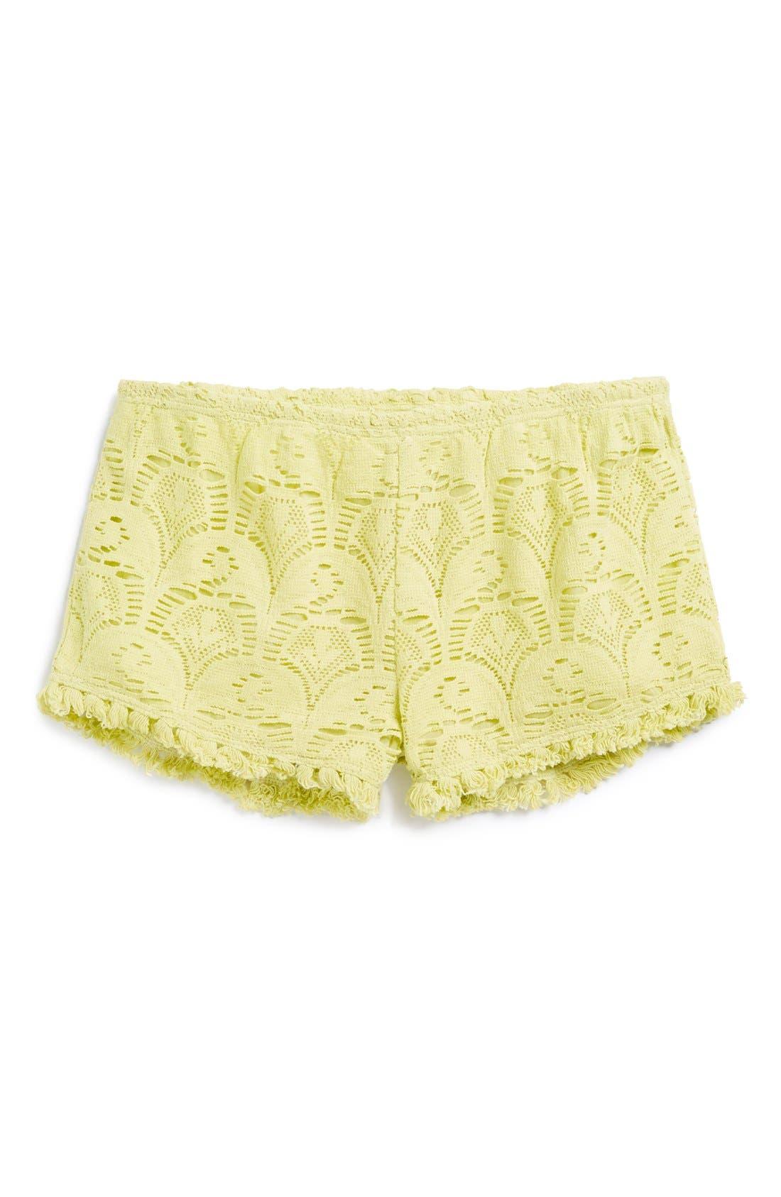 Alternate Image 1 Selected - Billabong Lace Shorts (Big Girls)