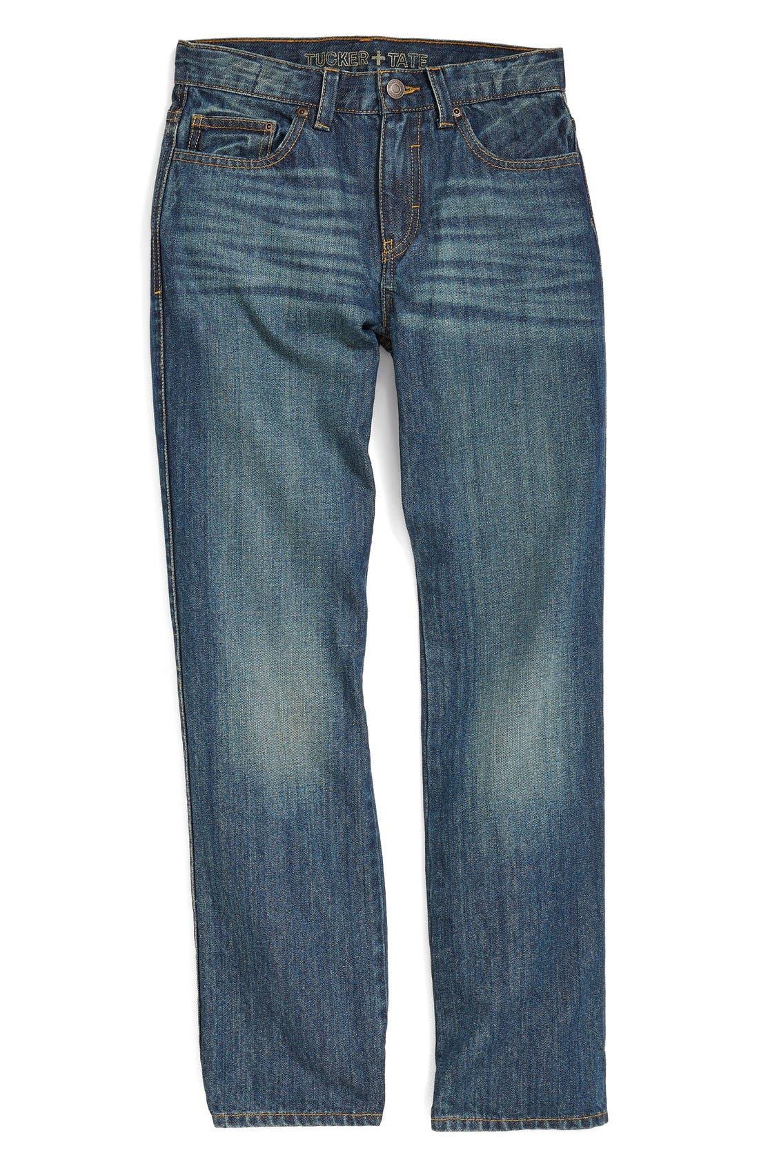Alternate Image 1 Selected - Tucker + Tate Straight Leg Jeans (Big Boys)