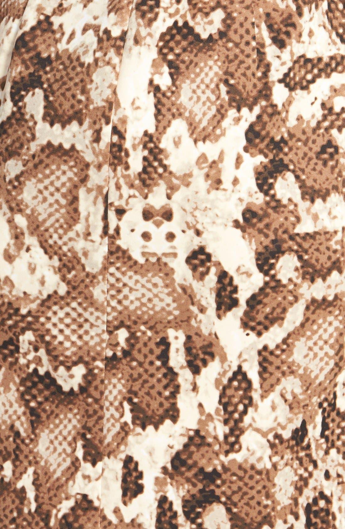 Alternate Image 4  - Vince Camuto Zip Front Snakeskin Print Scuba Dress