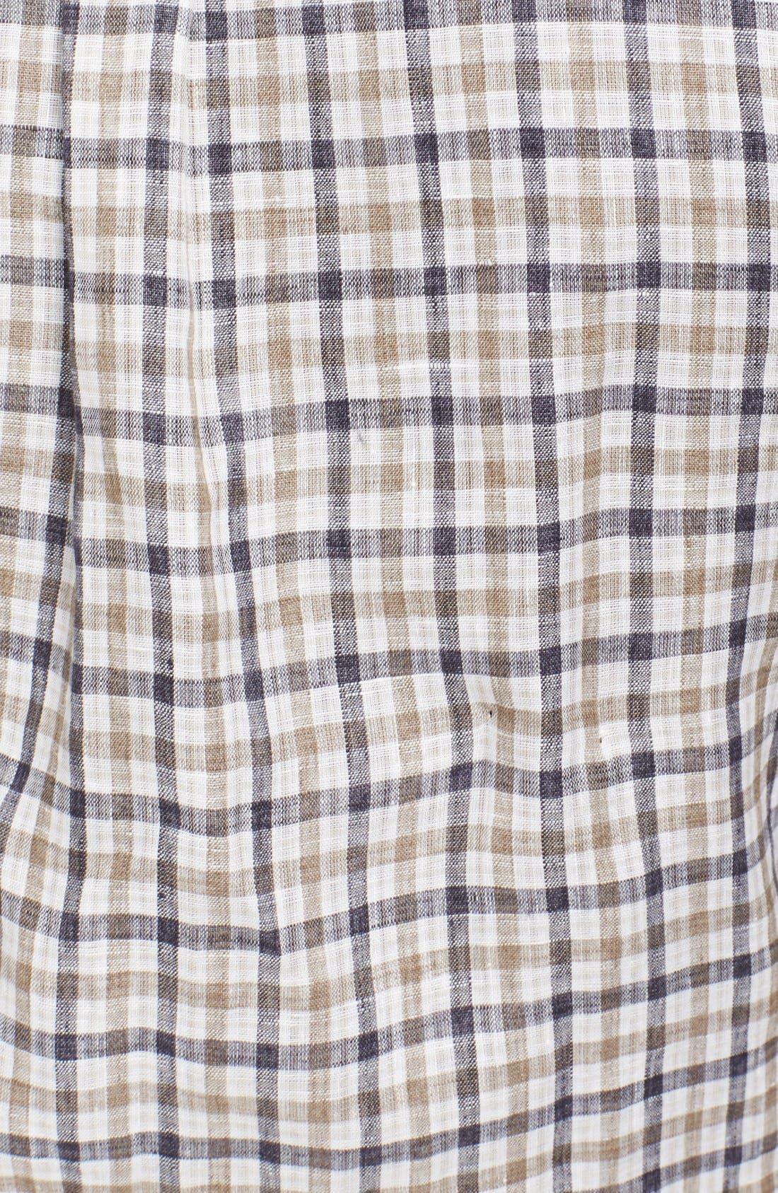 Alternate Image 3  - Canali Regular Fit Linen & Cotton Italian Sport Shirt