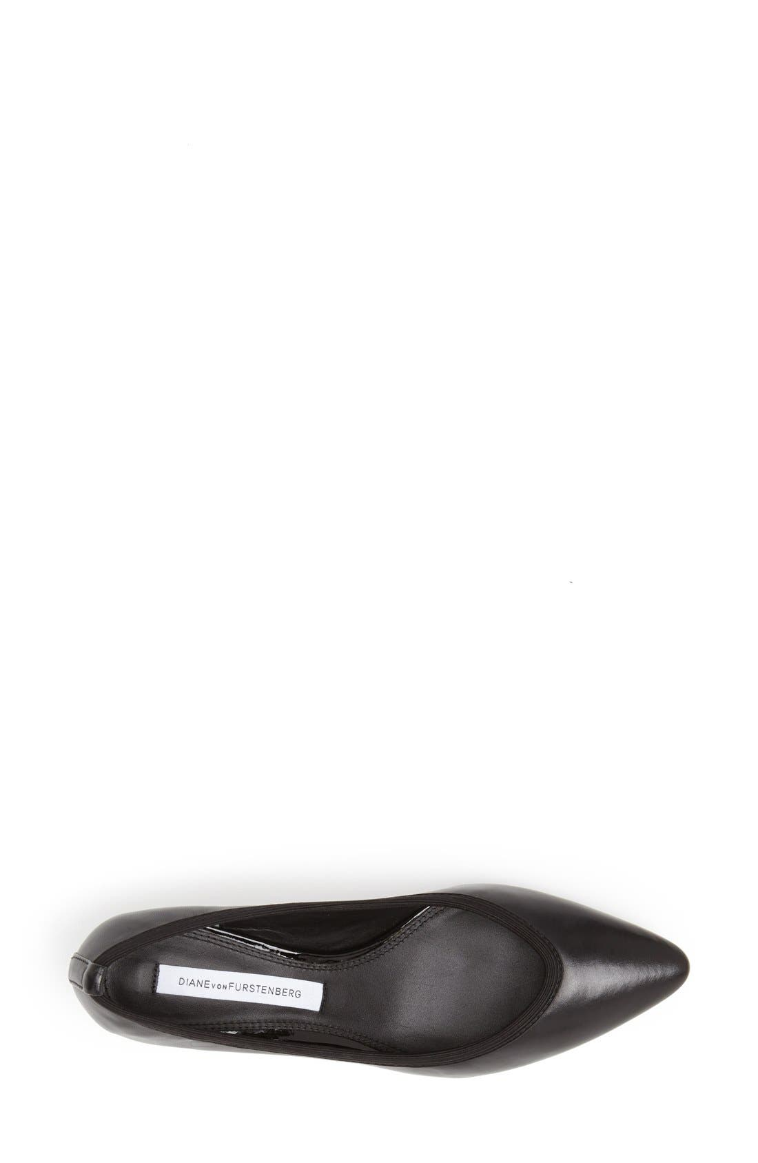 Alternate Image 4  - Diana von Furstenberg 'Faline' Pointy Toe Leather Pump (Women)