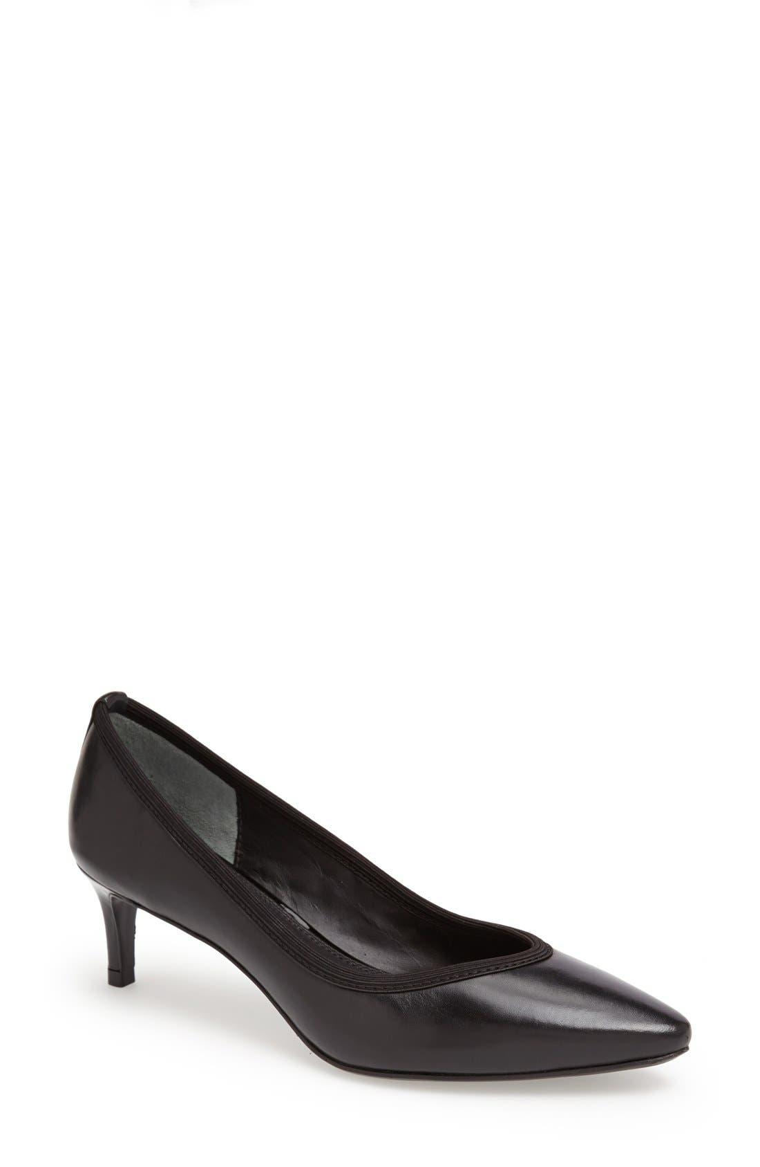 Alternate Image 1 Selected - Diana von Furstenberg 'Faline' Pointy Toe Leather Pump (Women)