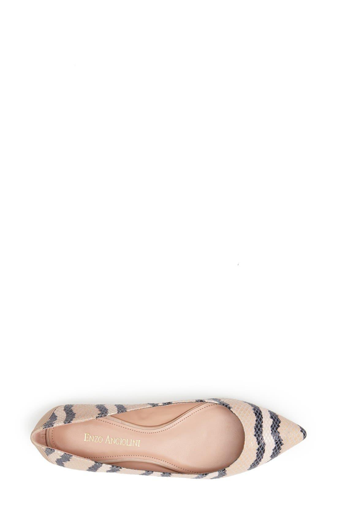 Alternate Image 3  - Enzo Angiolini 'Carolin' Pointy Toe Flat (Women)
