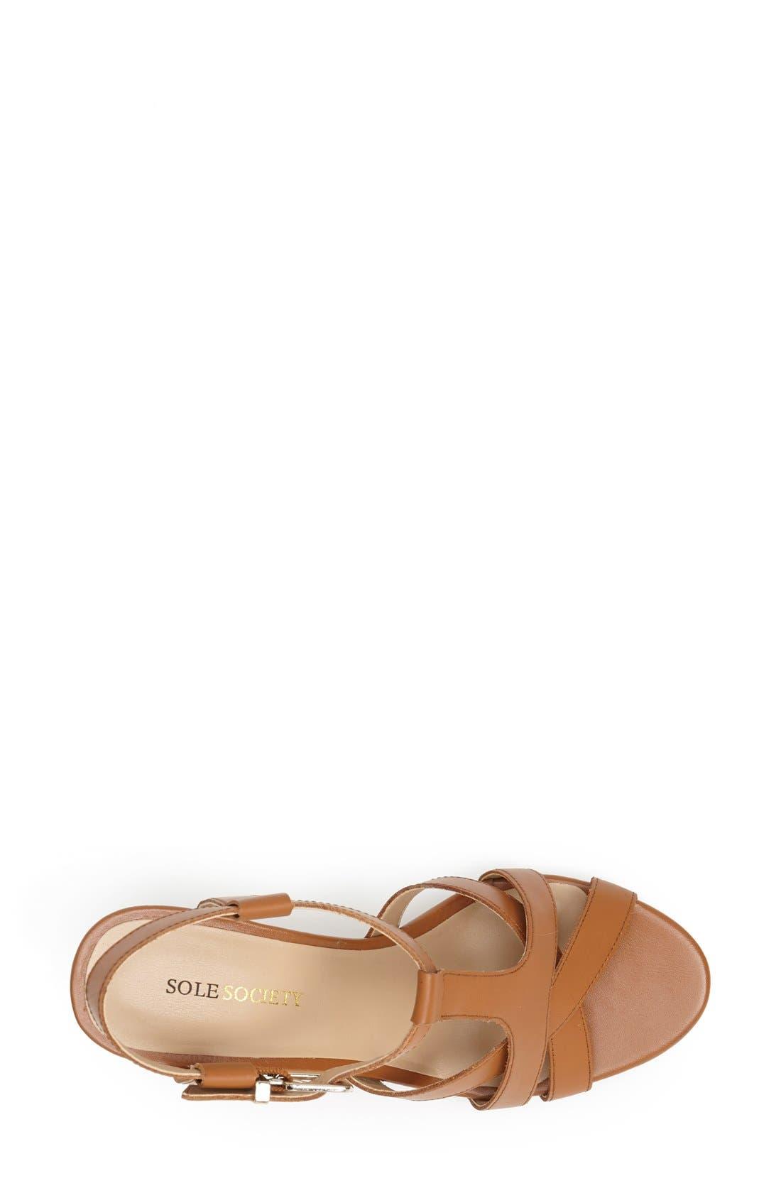 Alternate Image 3  - Sole Society 'Metsey' Wedge Sandal (Women)