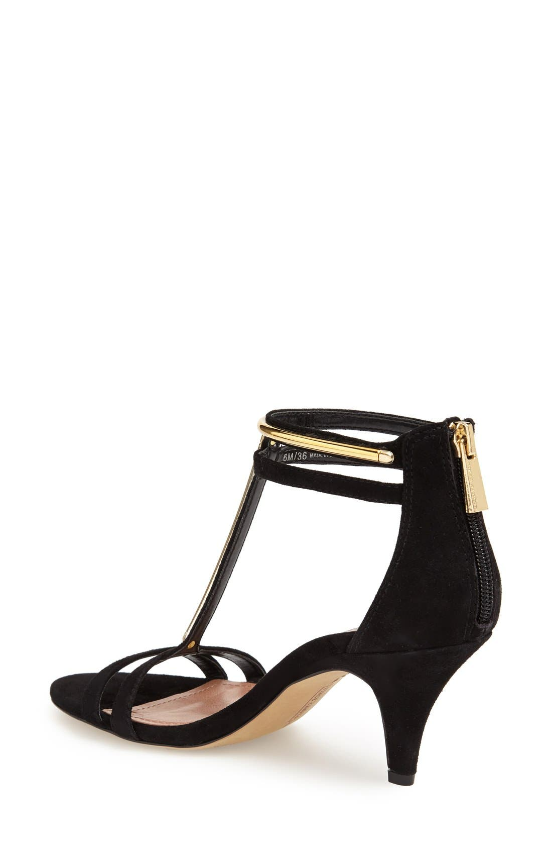 Alternate Image 2  - Vince Camuto 'Mitzy' Suede T-Strap Sandal (Women)