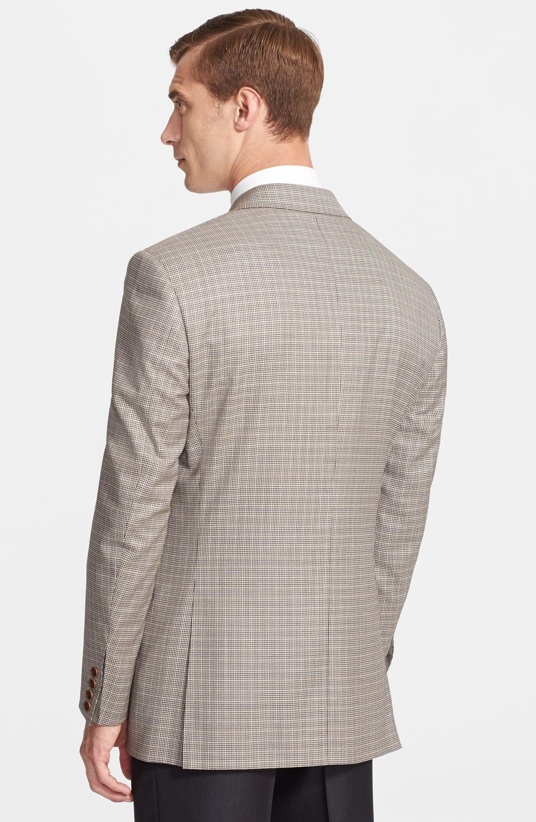 Alternate Image 2  - Canali Classic Fit Houndstooth Wool Sportcoat