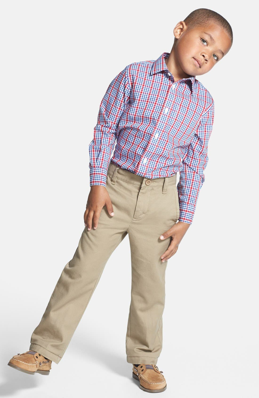 Alternate Image 2  - Nordstrom Smartcare™ Dress Shirt (Big Boys)