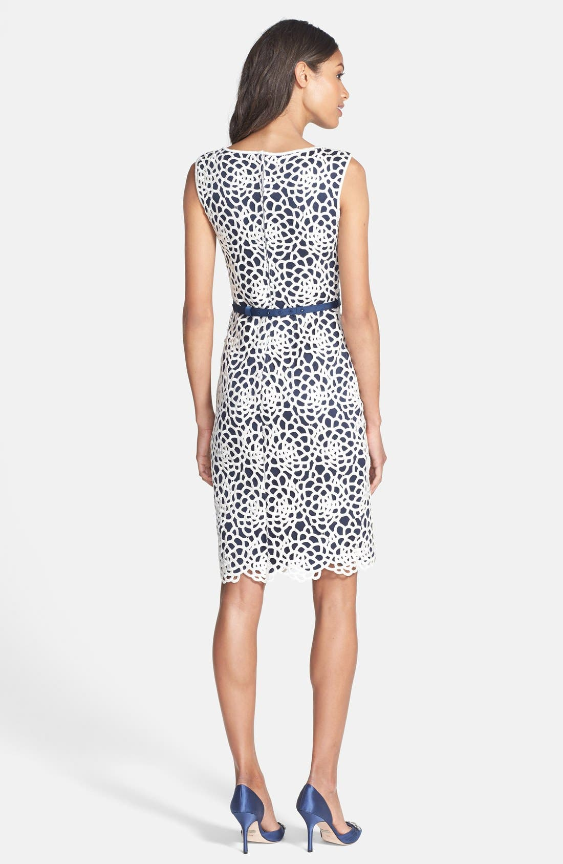 Alternate Image 2  - Tadashi Shoji Embroidered Sheath Dress