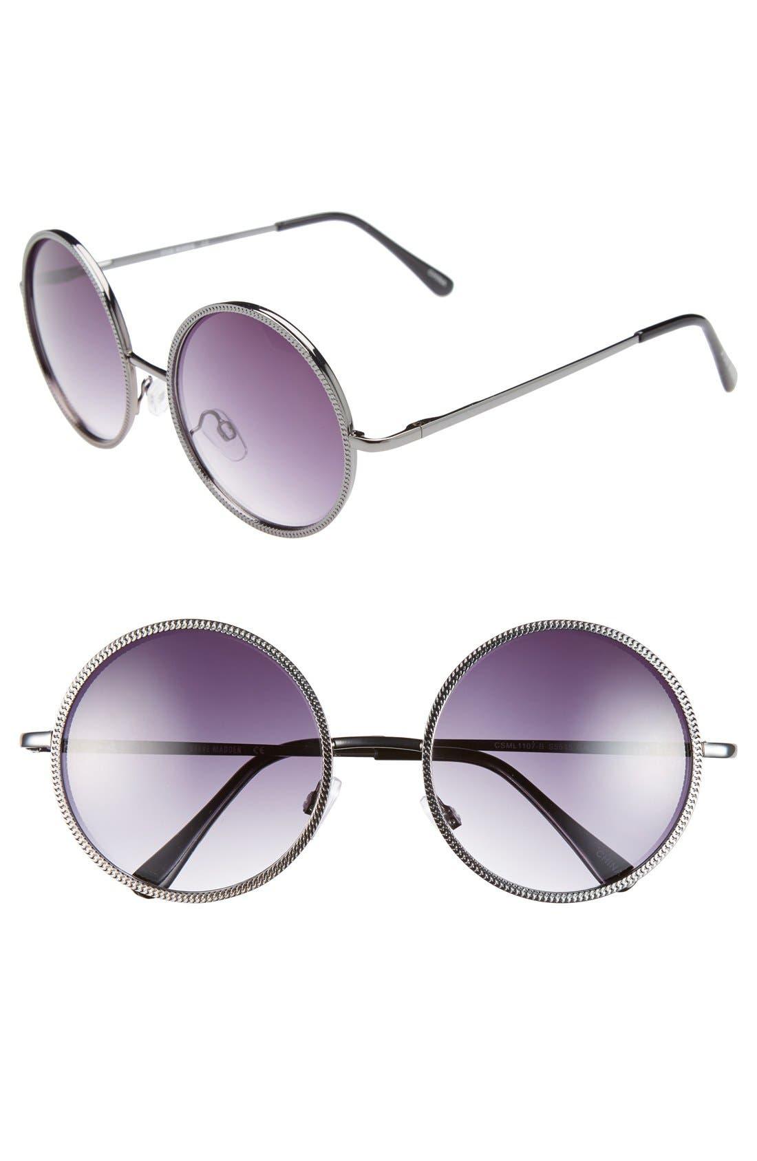 Alternate Image 1 Selected - Steve Madden 54mm Round Sunglasses